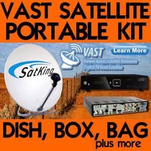 Portable Satellite Dish Kits for Vast  INCLUDES  VAST Receiver