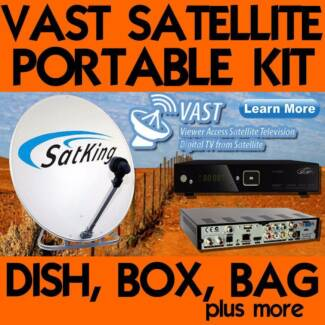 Satking Portable Satellite Dish Kit w Vast Receiver DVBS2-800CA