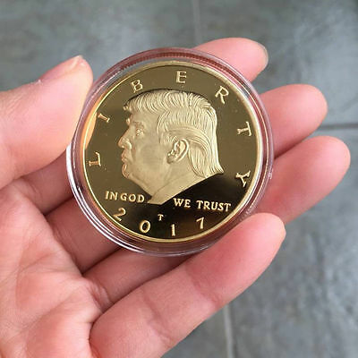 2017 US DONALD TRUMP Inauguration Gold Plated coin President Free shipping z88