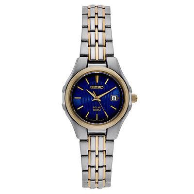 Seiko Solar Women's Analog Display Japanese Quartz Two Tone Watch SUT224