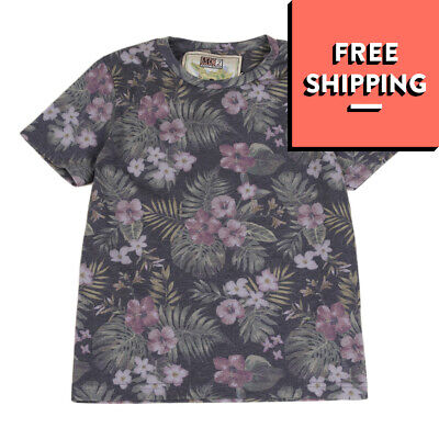 MC2 SAINT BARTH T-Shirt Top Size 8Y Floral Short Sleeve Crew Neck Made in Italy