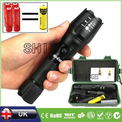 T6 Police Tactical Flashlight Zoom LED Adjustable Torch Lamp 8000LM UK004