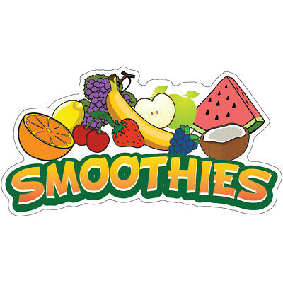 Smoothies Concession Decal Drink Fruit Smoothie Sign Cart Trailer Sticker