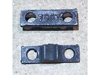 NOS # 2035-172 LIONEL PARTS PAIR OF PLAIN CENTER WHEELS