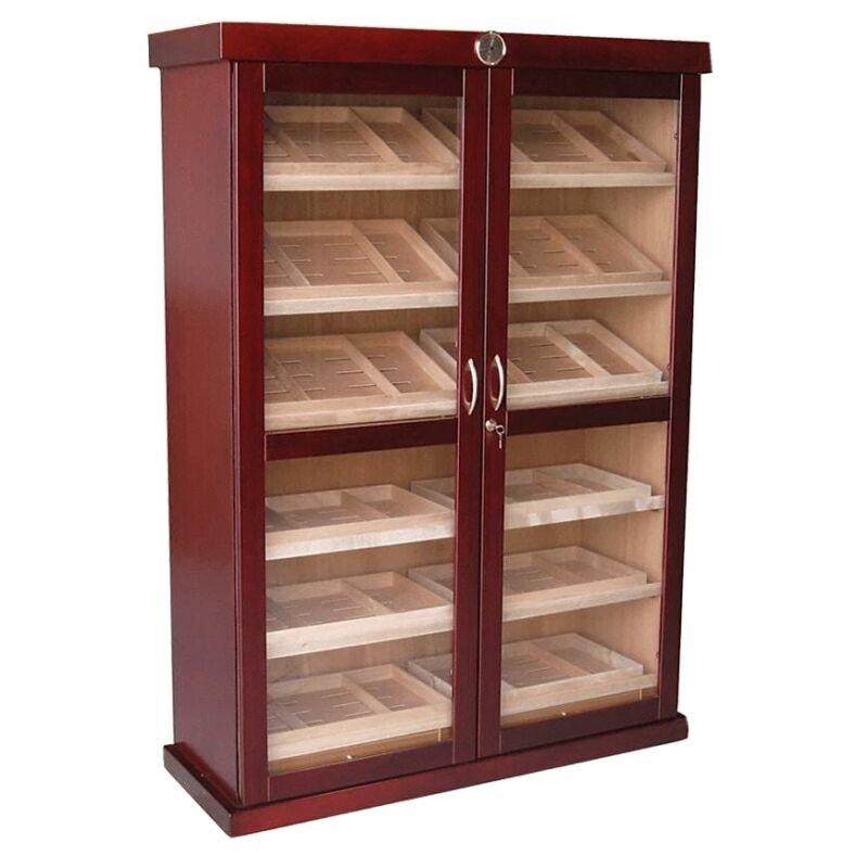 Bermuda Cigar Humidor Cabinet, Hold Up To 4,000 Cigars