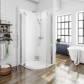 BRAND NEW 800x800 Quadrant Shower Enclosure & Tray
