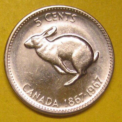 1867-1967 Canada Five Cents Nickel Uncirculated Take a Look