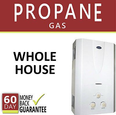 Tankless Hot Water Heater 3 1 Gpm Marey Propane Gas On Demand 3 Bath Whole House