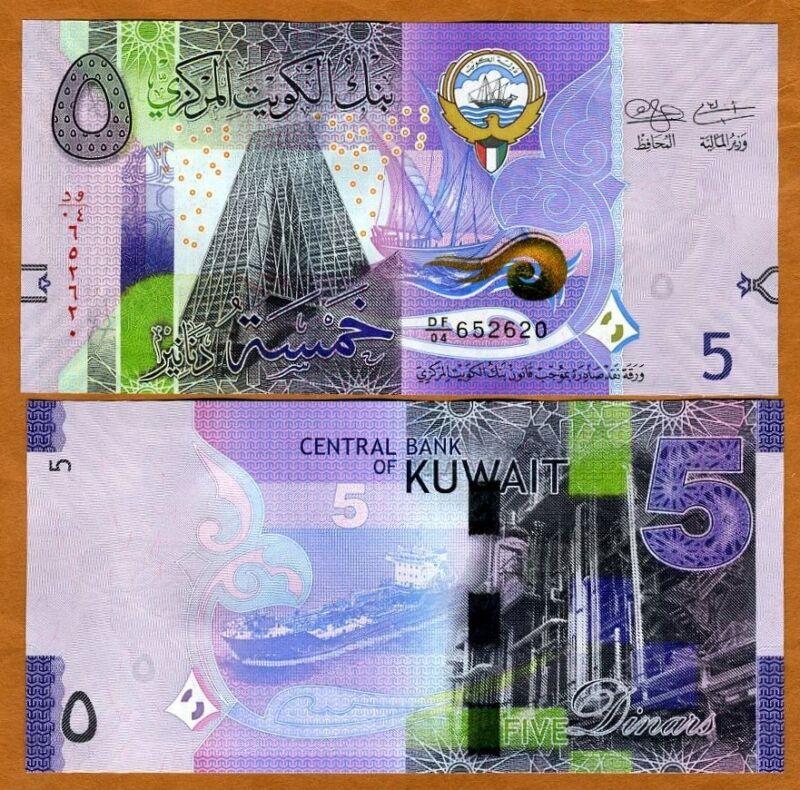 Kuwait, 5  Dinar, 2014, P-32, UNC