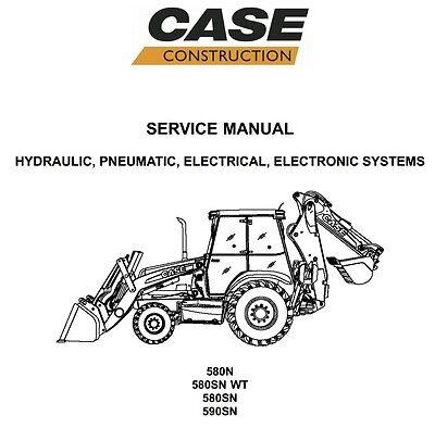 Case 580n 580sn-wt 580sn 590sn Loader Backhoe Service Repair Manual