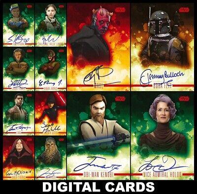 Topps Star Wars Card Trader STELLAR SIGNATURES [12 CARD RED SIGNATURE SET]