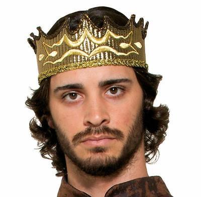 Medieval Fantasy Kings Crown Gold Crown Adult Size Renaissance