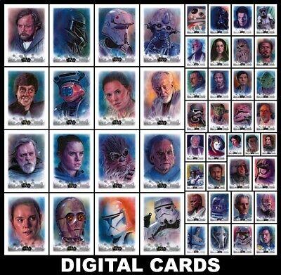 Topps Star Wars Card Trader STELLAR [49 CARD SKETCH CARD REPRODUCTION SET]