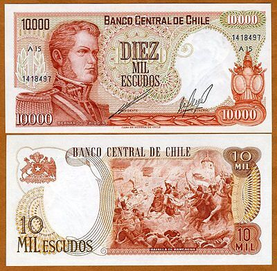Chile  10000  10 000  Pesos  Nd  Pick 148 A1 Serie  Unc