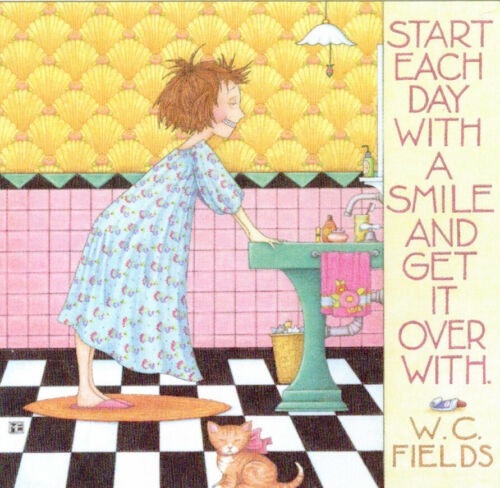 W.C.Fields-START WITH A SMILE-Handcrafted Fridge Magnet-W/Mary Engelbreit art