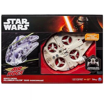 Star Wars Millennium Falcon Quad Remote Control Ultimate Air Hogs Force Awakens