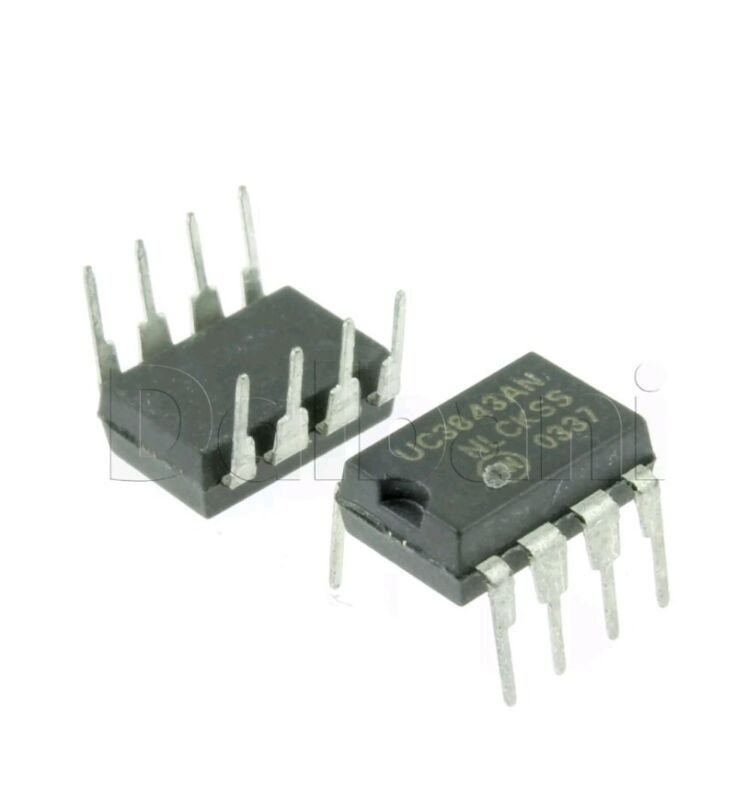 6pcs ON semi  UC3843 Current-Mode PWM Controller DIP8 UC3843AN US Seller