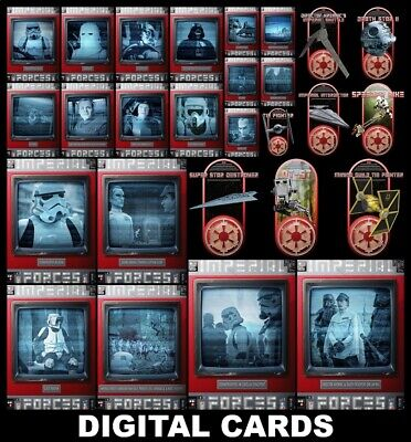 Topps Star Wars Card Trader IMPERIAL FORCES [27 CARD RED BASE/BRONZE SHIPS SETS]