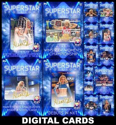 Topps SLAM WWE SUPERSTAR SPOTLIGHT ALEXA BLISS [15 CARD SIGNATURE/BASE SET]