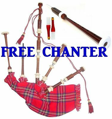 Musical Instruments & Gear Other Musical Instruments Efficient New Scottish Highland Bagpipe Long Practice Chanter Rosewood Immation Mount+reed The Latest Fashion