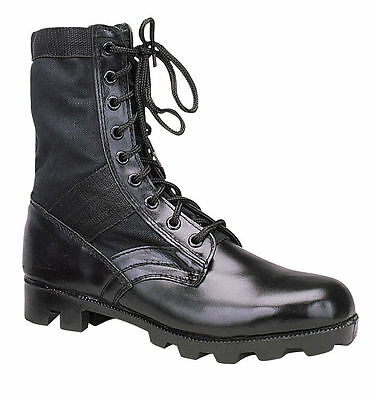 Rothco 5081 Black Leather Military G.I. Style 8