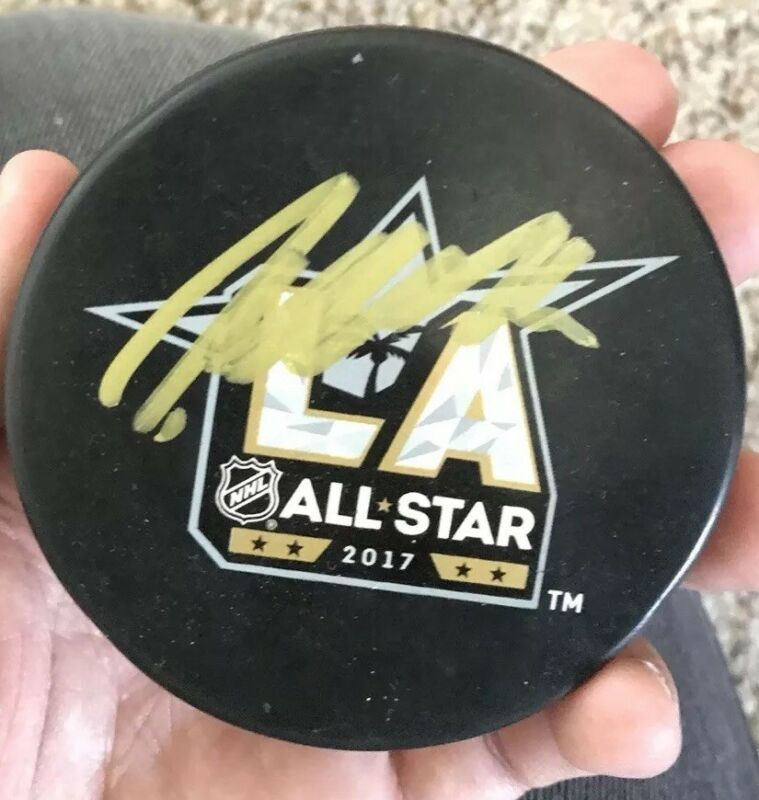Patrik Laine Signed 2017 All Star Hockey Puck Winnipeg Jets With Exact Proof