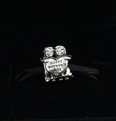Authentic PANDORA Sterling Silver From Us Happy Mothers Day Charm 791517