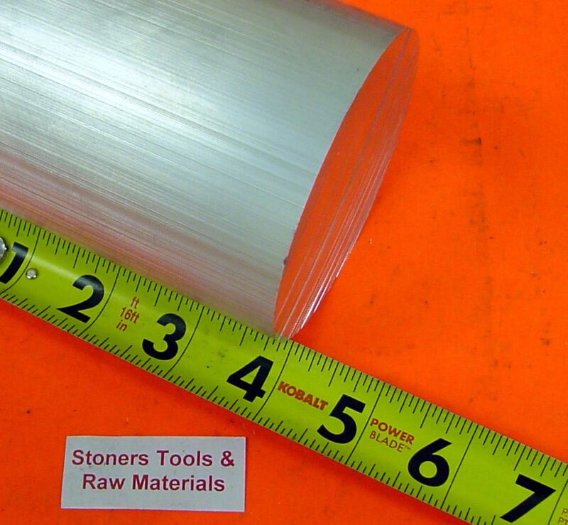 "5"" ALUMINUM 6061 ROUND ROD 4"" LONG T6511 Solid Lathe Bar Stock"