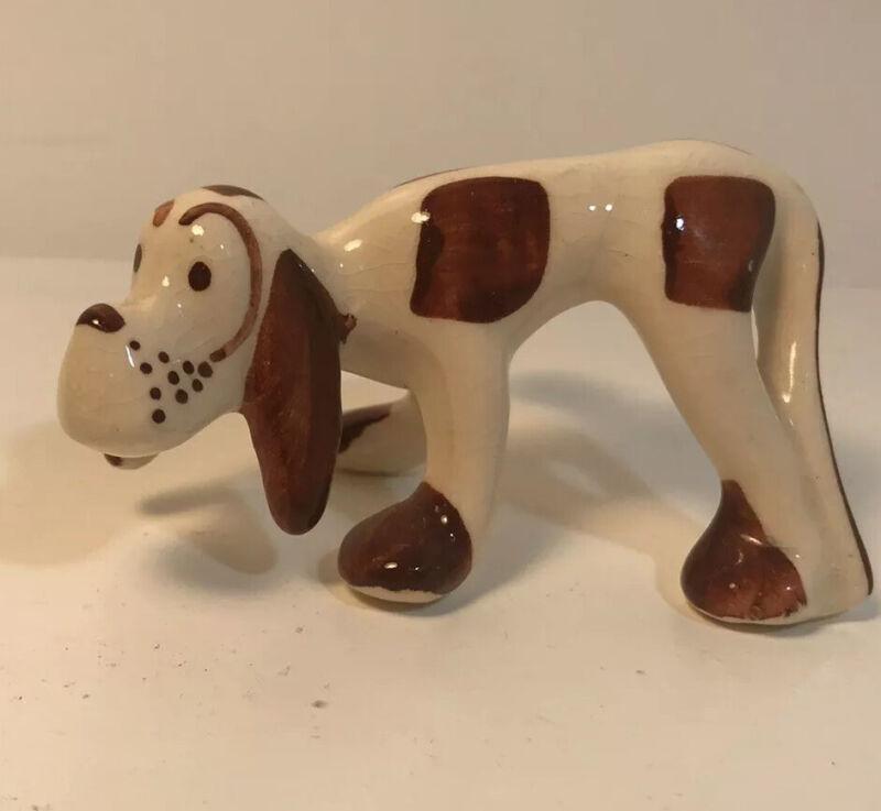 Vintage Hound Dog Ceramic