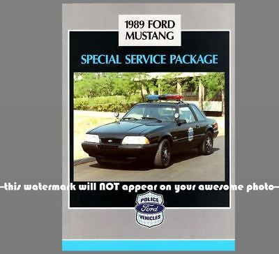 1989 Ford Mustang Police Car PHOTO Vintage Ad Policeman Officer Vehicle