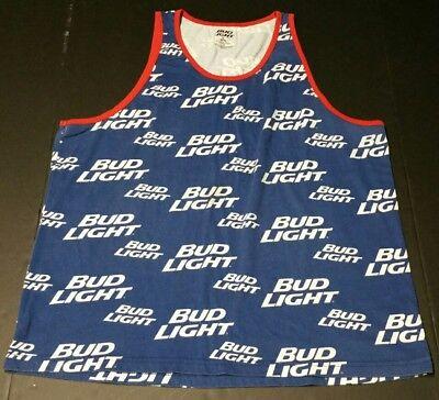 Bud Light Beer Budweiser Tank Top Sleeveless T-Shirt Muscle Tee Men XL tanktop