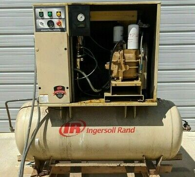 Used Ingersoll-rand Up6 15c Tas 15 Hp Rotary Screw Air Compressor 120 Gallon