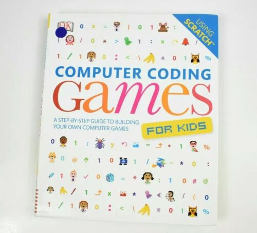 Computer Games - Computer Coding Games For Kids Book Using Scratch Free Postage By DK