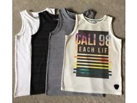 Boys Vest Tops - T-shirt. Age 6-7 Years.