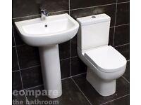 Studio Basin and Toilet Set Modern Bathroom Suite