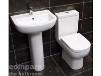 Studio Basin and Toilet Set Modern Bathroom Suite