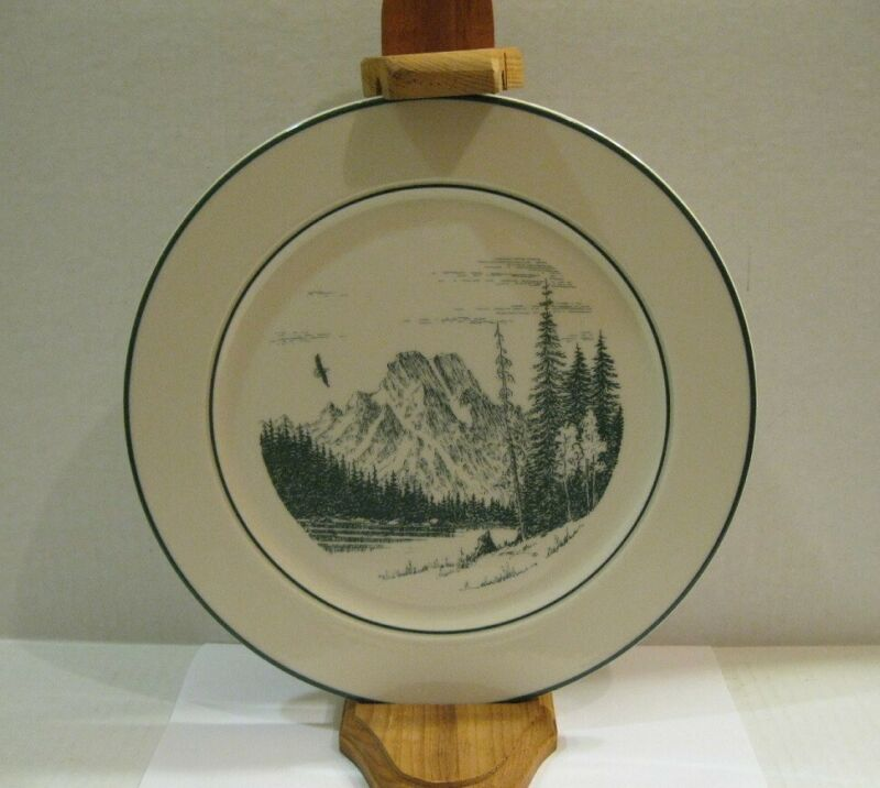 Jenny Lake Lodge MT. MORAN FROM STRING LAKE Plate Keith Fay Homer Laughlin 1991