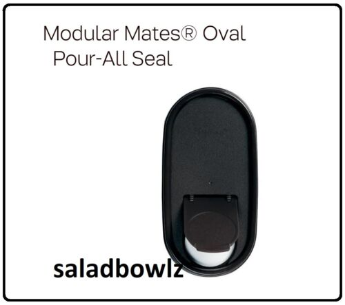 TUPPERWARE New Modular Mates OVAL POUR-ALL SEAL in BLACK iNsTOCK! fREEsHIP!