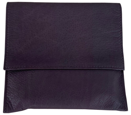 Brown Leather Full Size Rollup Tobacco Pouch Holds 3 oz Pipe Tobacco - 9304