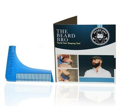 The Beard Bro Beard Shaping Tool. Perfect Shaping. Symmetry. Made in USA (Blue)
