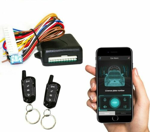 Car Alarm Security Systems Auto Remote Central Locking Kit Door Lock Keyless APP