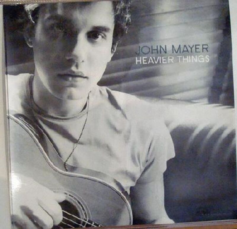 "JOHN MAYER ""HEAVIER THINGS"" ORIGINAL U.S. PROMO POSTER -Black & White Head Shot"