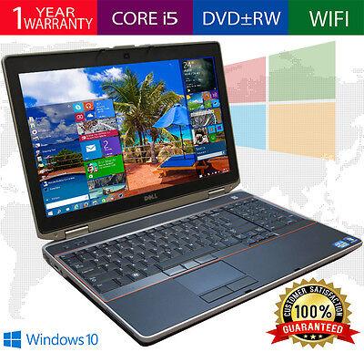 DELL LATITUDE Laptop Computer PC CORE I5 Windows 10 256GB SSD WiFi DVD NOTEBOOK