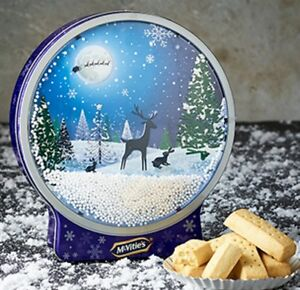 McVitie's Snowglobe Tin (400g) With Shortbread Biscuits Christmas Gift LTD Ed