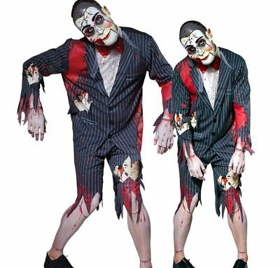 Mens PUTRID PUPPET MASTER Halloween Fancy Dress Costume Ventriloquist Dummy Male