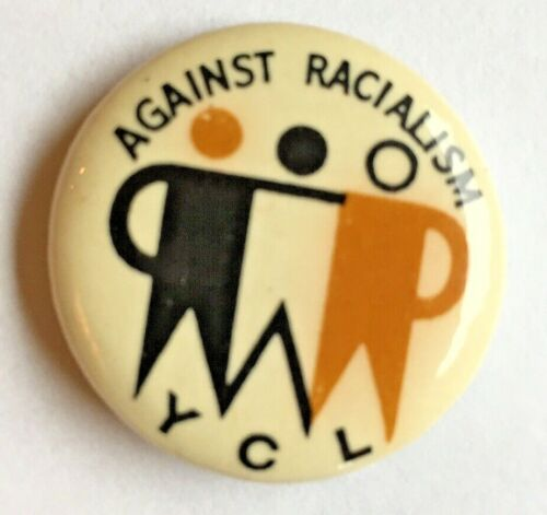 Young Communist League  Pinback Button YCL YWLL Anti-racism