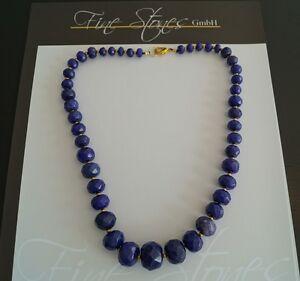 Achat Collier Kette Saphir Blau  fac !L 50 cm 8-20mm ca. 500,0 Carat (Nr4)