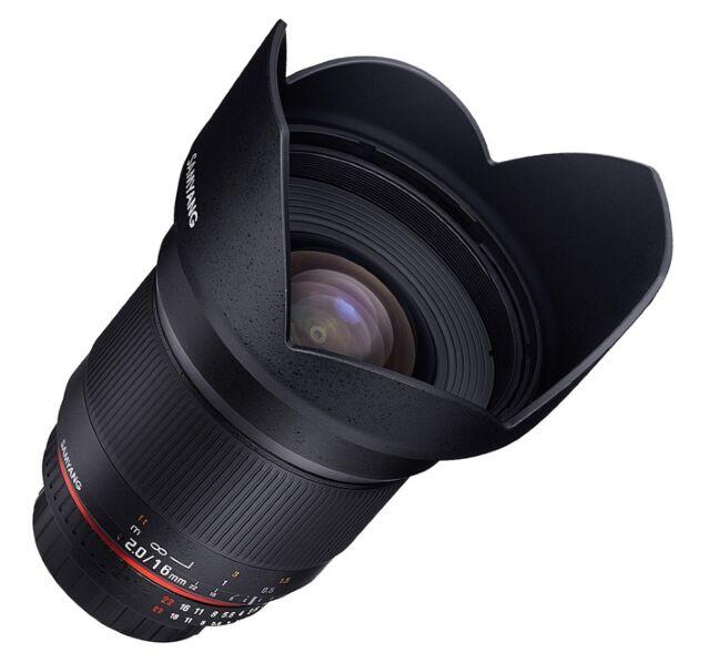 Samyang 16mm f2 ED AS UMC CS Lens - Micro Four Thirds Fit (Olympus/Panasonic)
