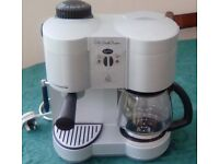 Express and filter coffee machine.
