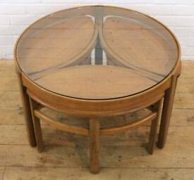 Retro teak nathan coffee table